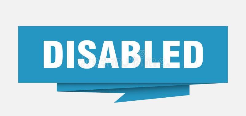 disabled ilustração royalty free