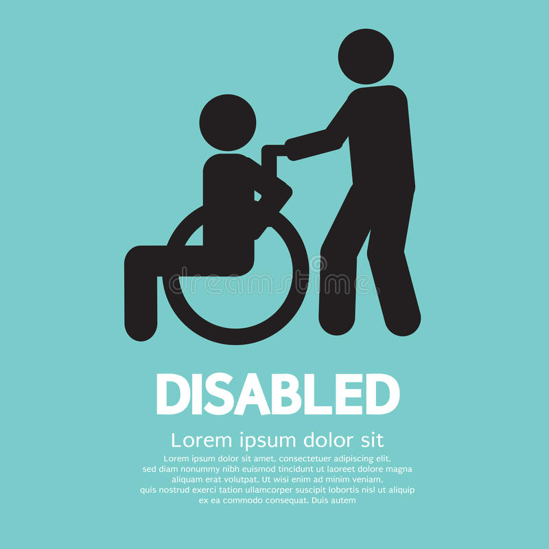 Disabled. Graphic Sign Vector Illustration vector illustration
