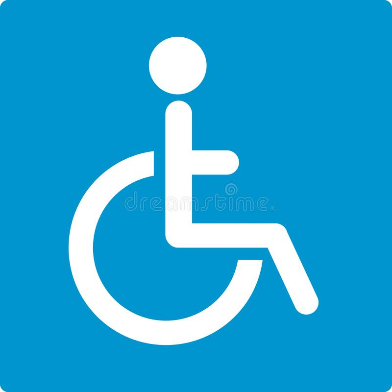 Disabled badge vector illustration