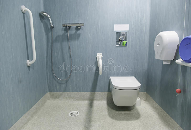 Disabled bathroom stock photo. Image of bath, handrail - 50598724