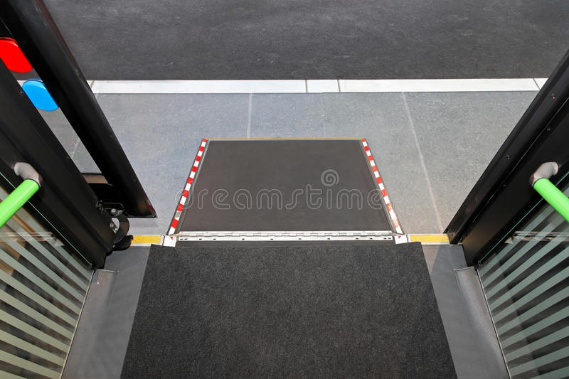 Disabled Bus Ramp Royalty Free Stock Photography