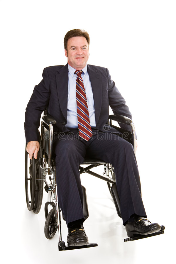 Download Disabled Businessman Isolated Stock Photo - Image: 5191816