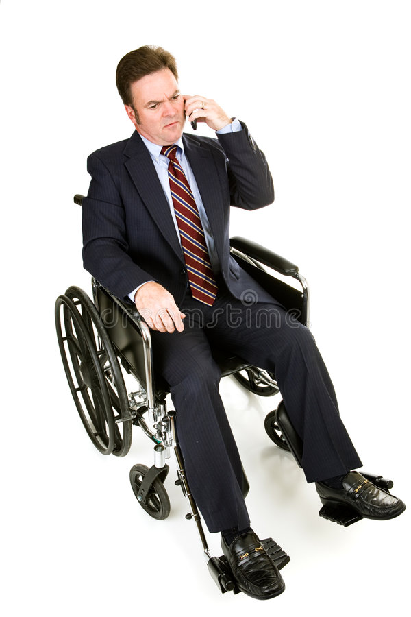 Download Disabled Businessman - Serious Conversation Stock Image - Image: 5191803