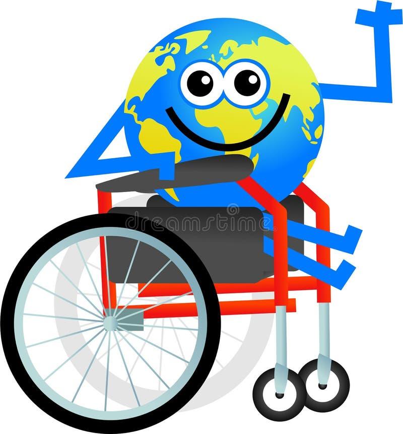 Disabled globe stock illustration
