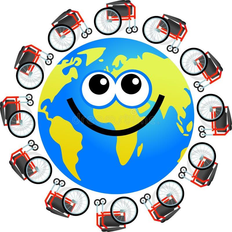 Download Disabled globe stock illustration. Image of medical, illness - 6486147