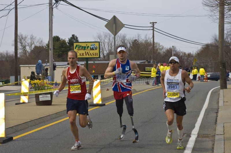 disabled guides runner στοκ εικόνα