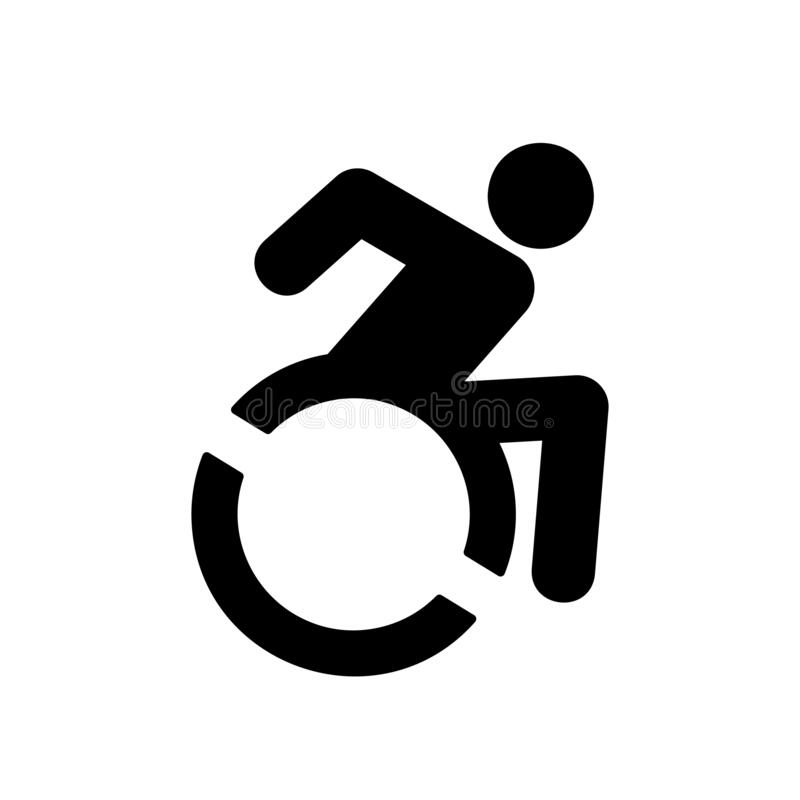 Free Disabled Handicap Icon. Wheelchair User Vector Symbol Isolated On White Background. Vector EPS 10 Royalty Free Stock Images - 215549689