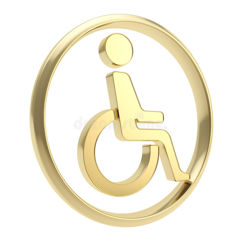 Download Disabled Handicapped Person Icon Emblem Isolated Stock Illustration - Image: 29112112