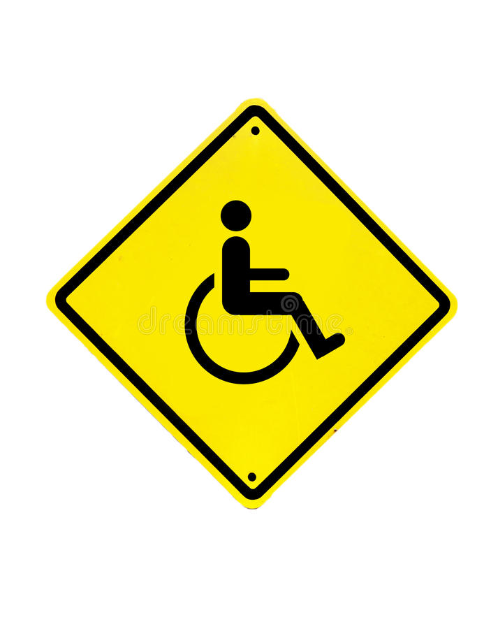 Download Disabled Icon Sign On A White Royalty Free Stock Image - Image: 30515236