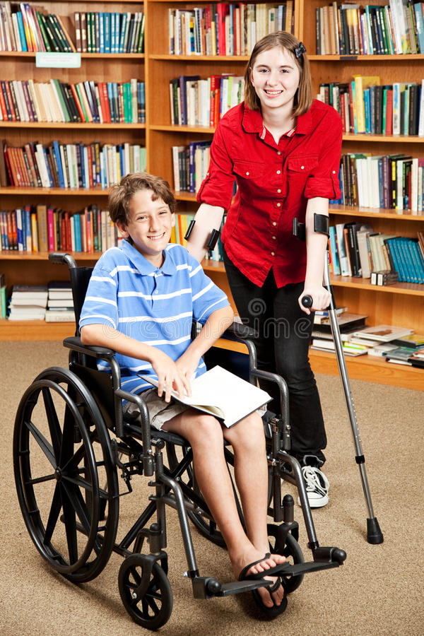 Download Disabled Kids at School stock image. Image of friendship - 20519591