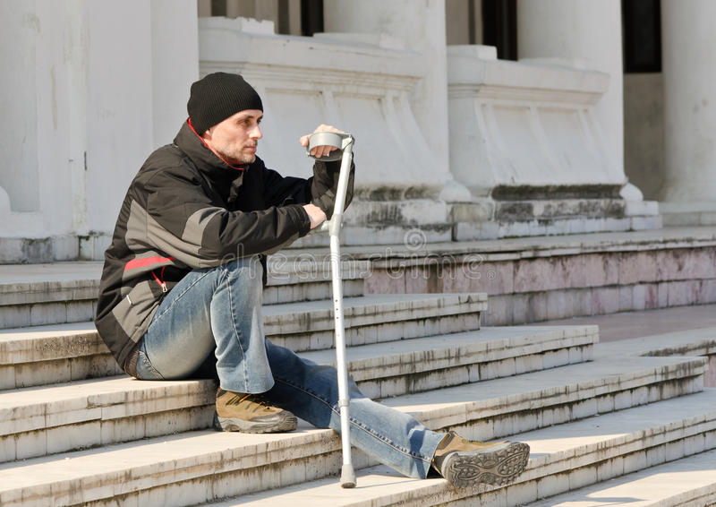 Download Disabled man beggar stock photo. Image of caucasian, needy - 18923602
