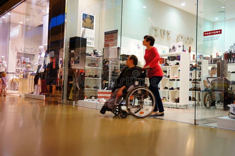 Disabled man stock photo