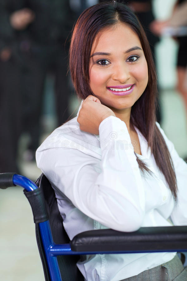 Disabled office worker stock photos