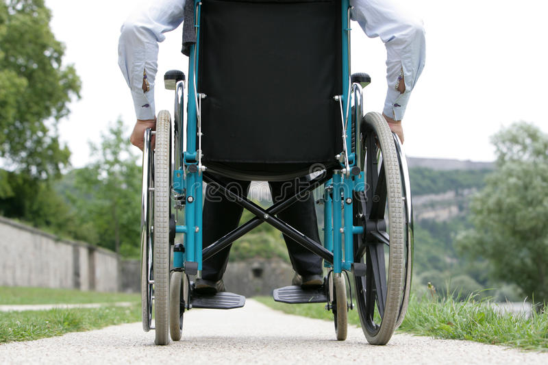 Disabled Outdoors royalty free stock image