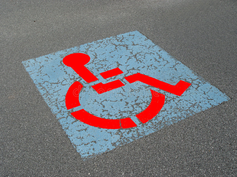 Disabled Parking stock image