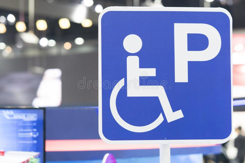Disabled parking or Wheelchair parking sign stock photos