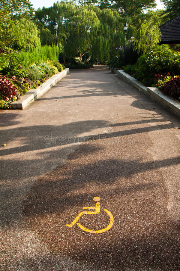 Disabled Pathway royalty free stock image