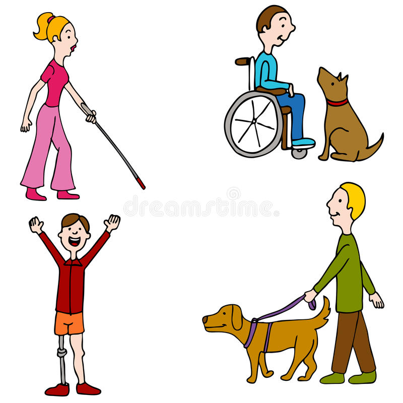 Disabled People stock illustration