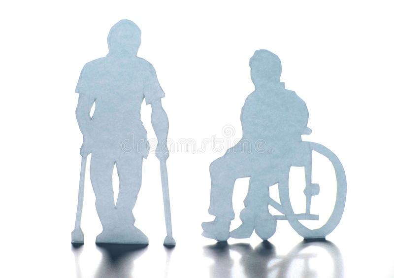 Disabled people stock image