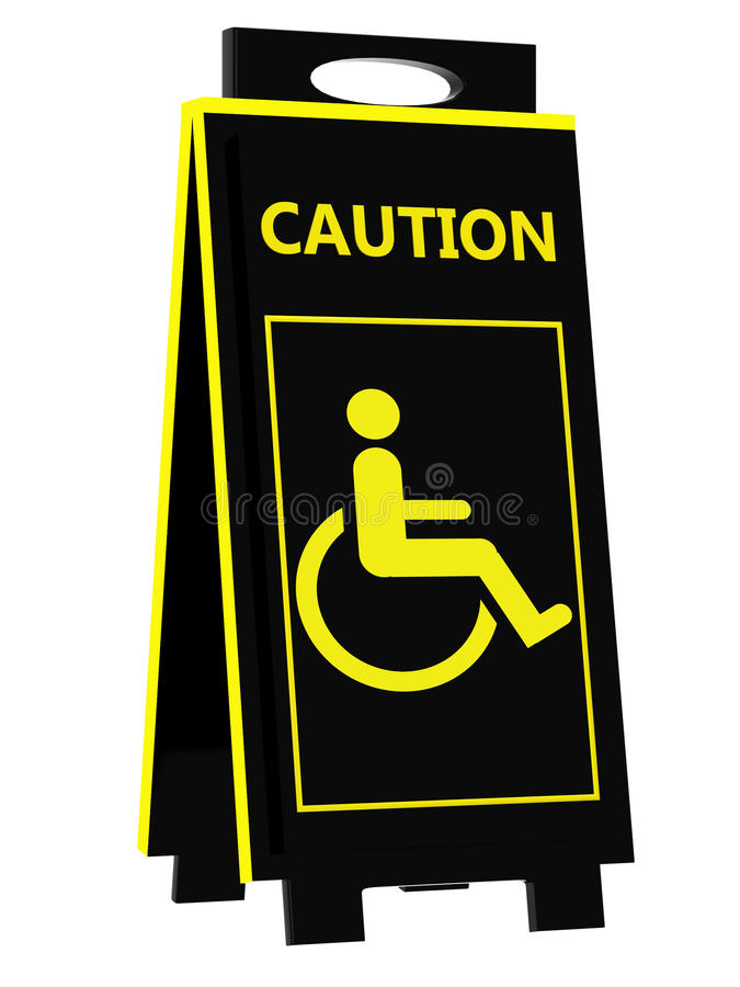 Download Disabled Person Warning Sign Stock Illustration - Image: 30215096