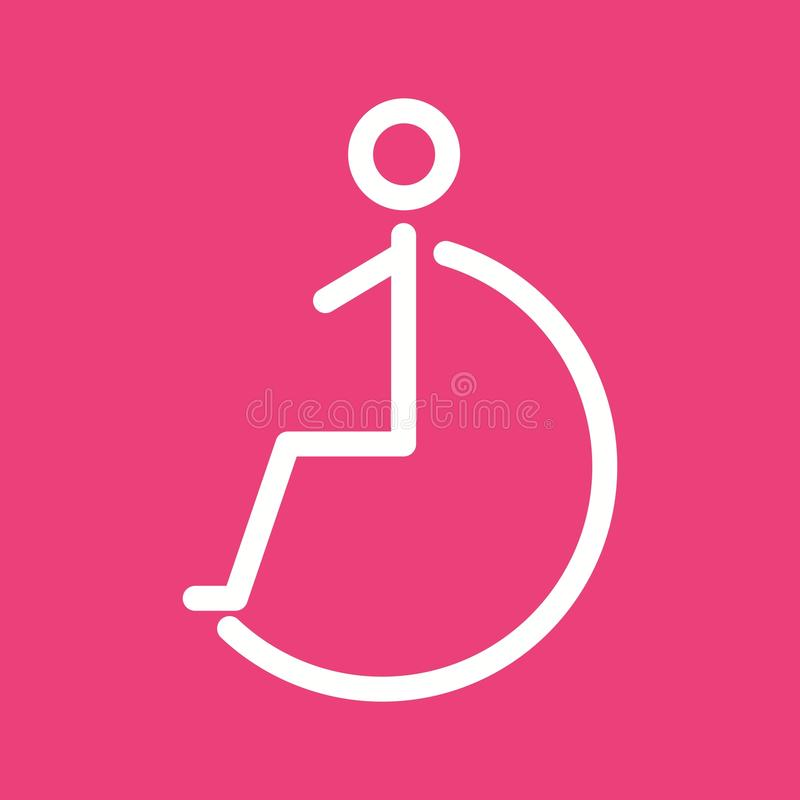 Disabled Person Stock Vector Illustration Of Disability 83307754