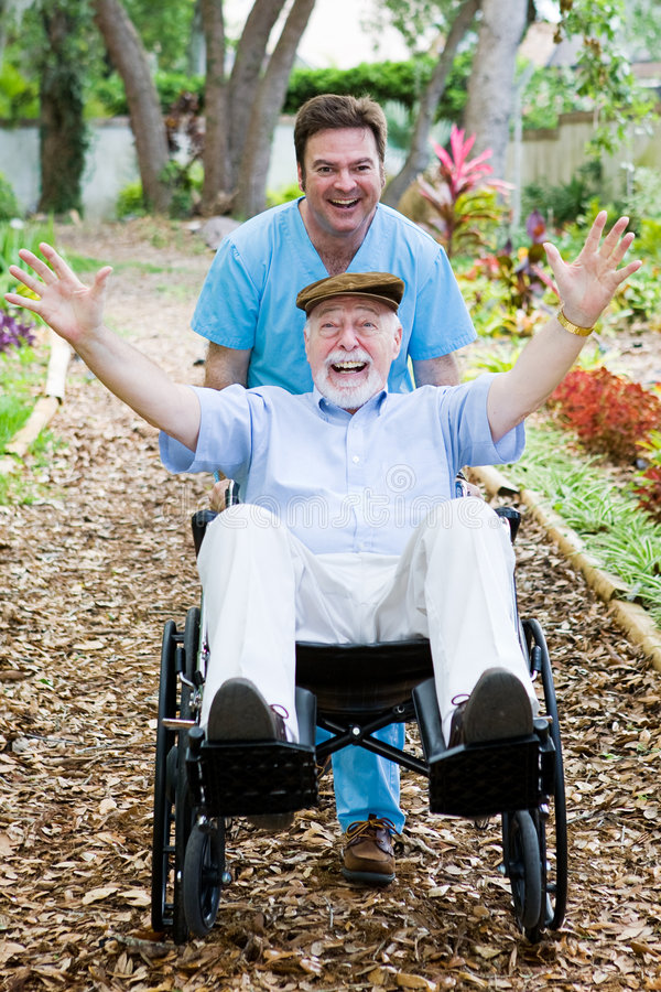 Disabled Senior - Fun Stock Photography