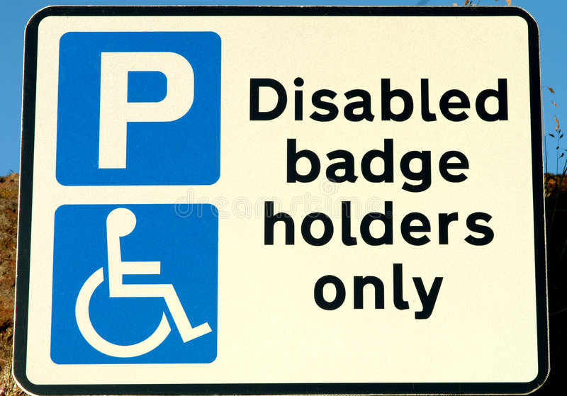 Download Disabled Sign stock image. Image of information, wheelchair - 171941