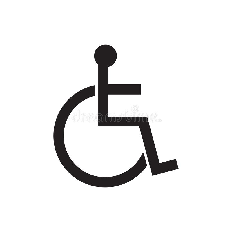 disabled sign icon vector illustration human on wheelchair rh dreamstime com handicap parking vector symbol new handicap symbol vector