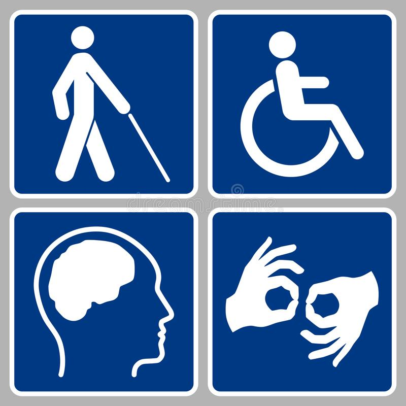 Disabled Signs Stock Vector Illustration Of Handicap 112427240
