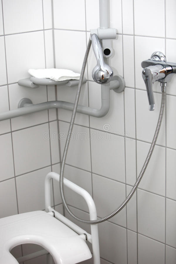 Disabled toilet and shower stock photography