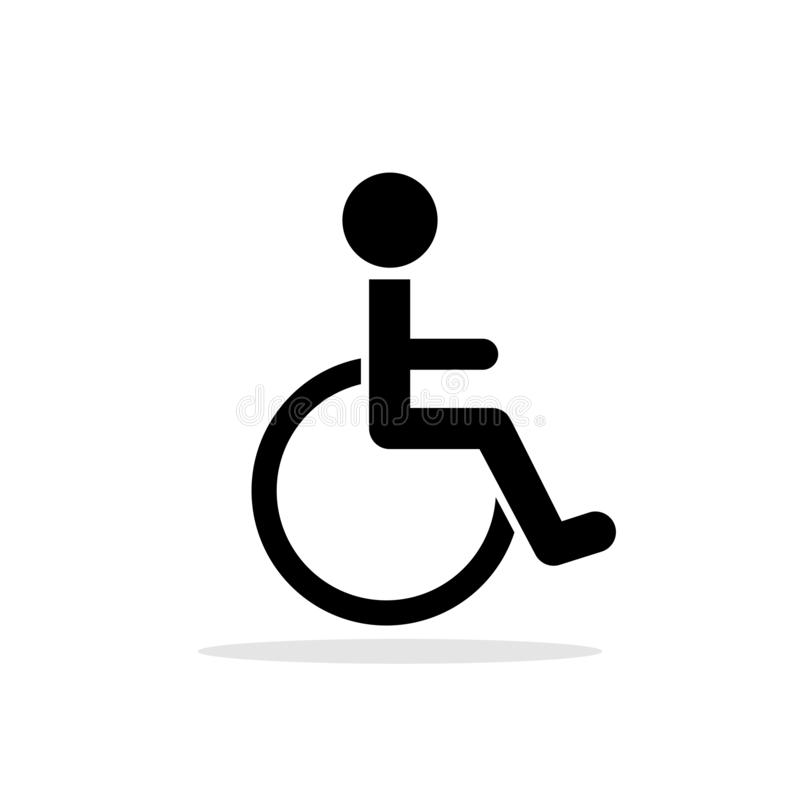 Disabled toilet icon royalty free illustration