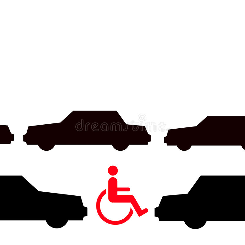Download Disabled in traffic stock illustration. Image of cityscape - 7944616