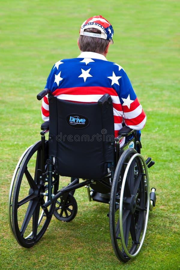 Disabled Veteran royalty free stock photos