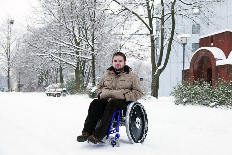 Disabled young man stock images