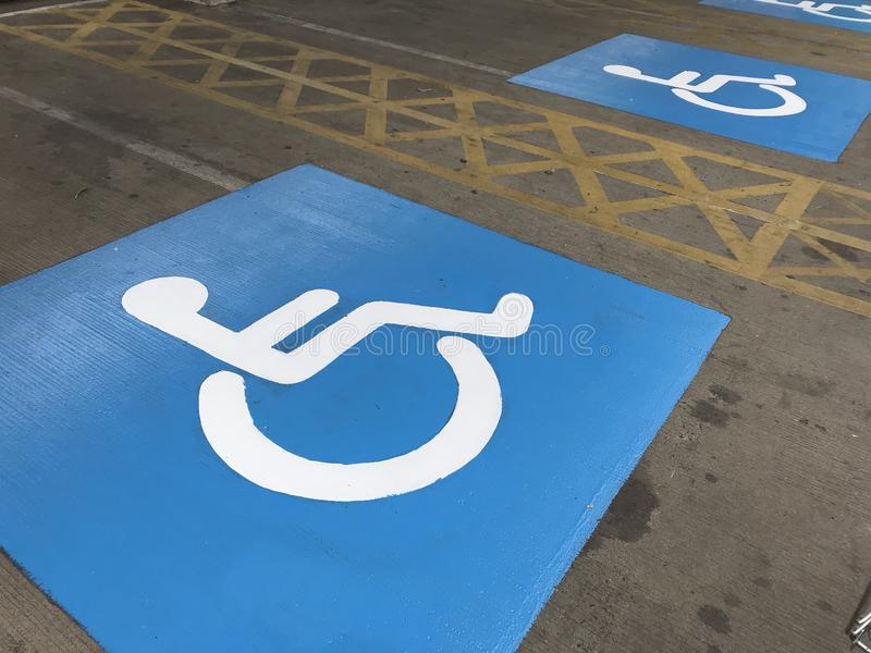 Disableparkering arkivbilder