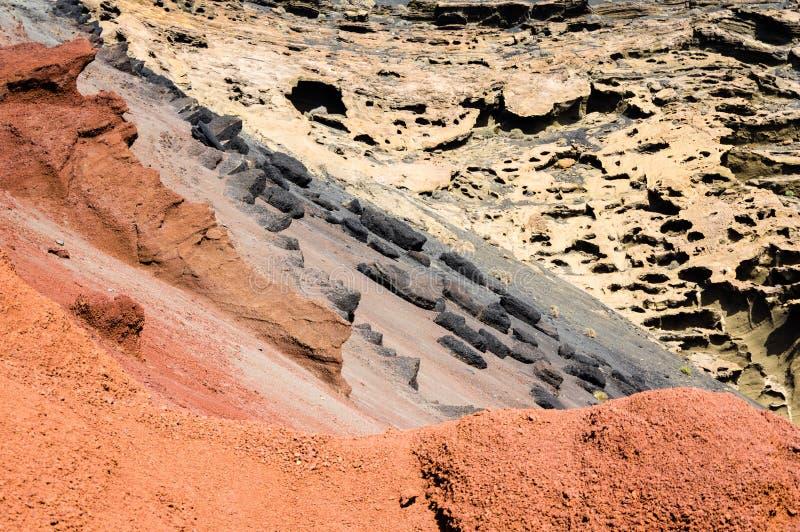 Disaccordo cromatico vulcanico immagini stock