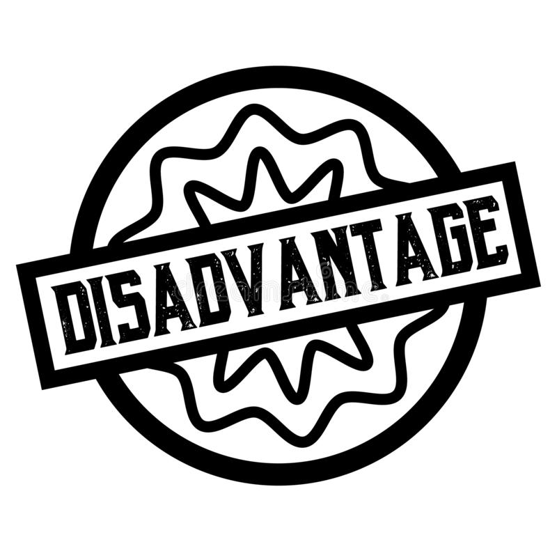 DISADVANTAGE stamp on white isolated. DISADVANTAGE stamp on white. Stamps and labels series stock illustration