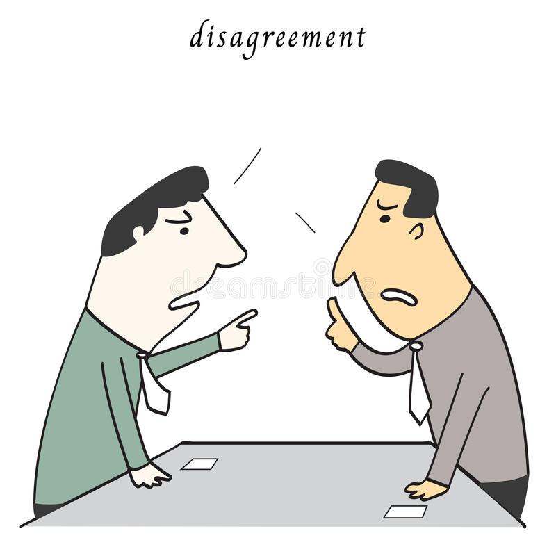 disagreement ilustração stock
