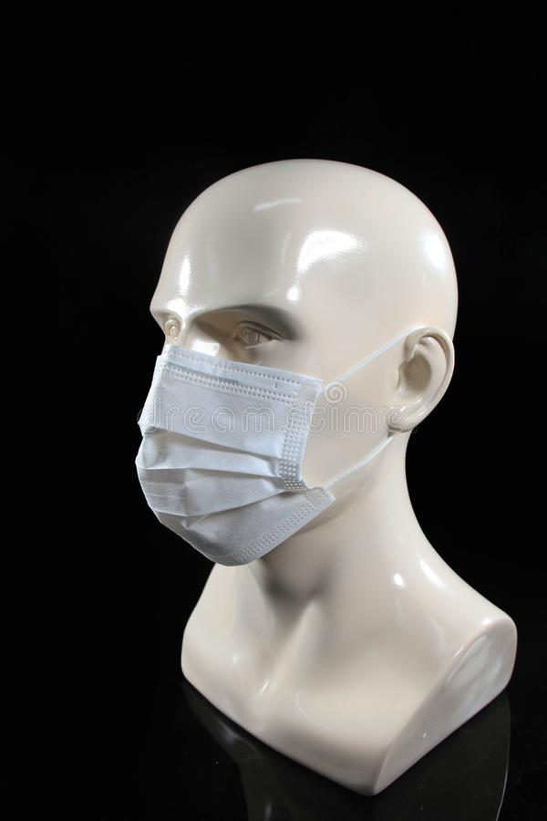 Of Disaposable Layer Face Non - Three Stock Woven Mask Image
