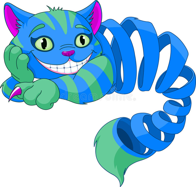 Disappearing Cheshire Cat vector illustration