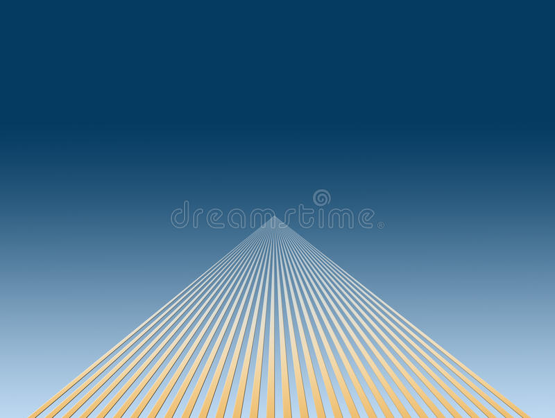 Disappearing lines royalty free illustration