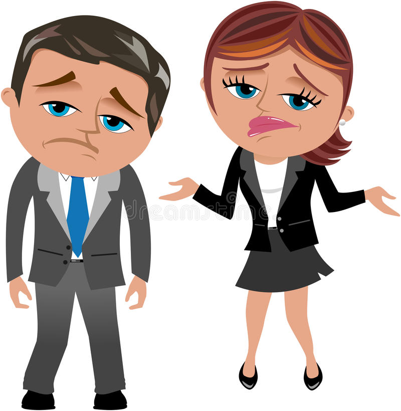 Free Disappointed Business Woman And Man Royalty Free Stock Photography - 32509707