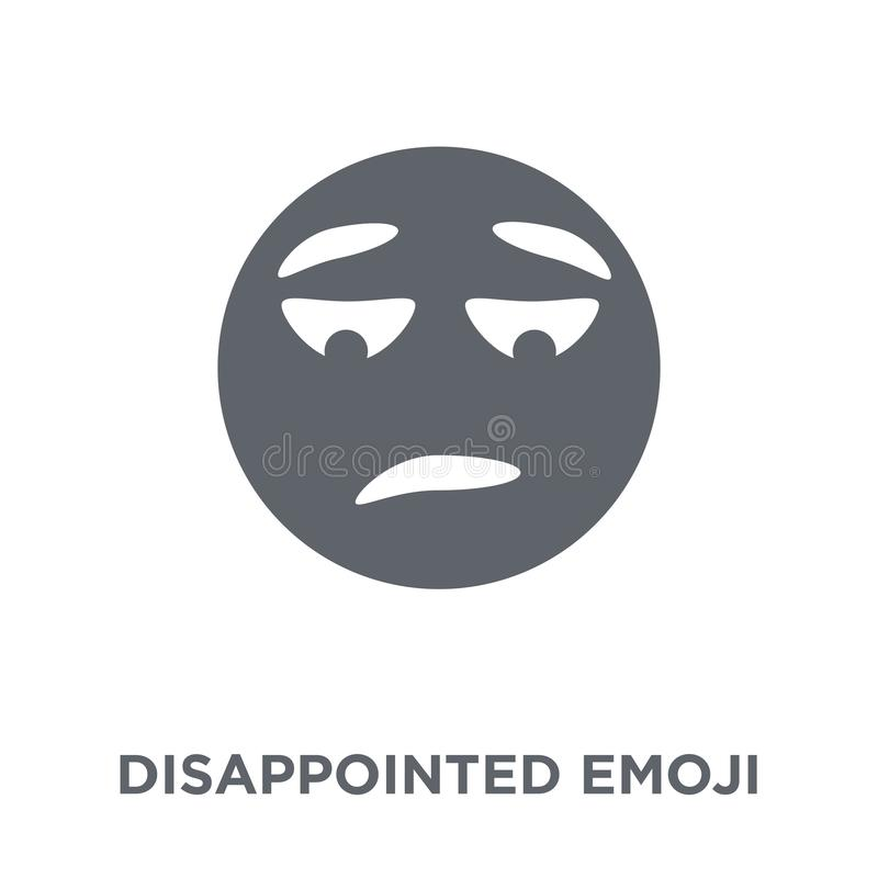 Disappointed emoji icon from Emoji collection. stock illustration