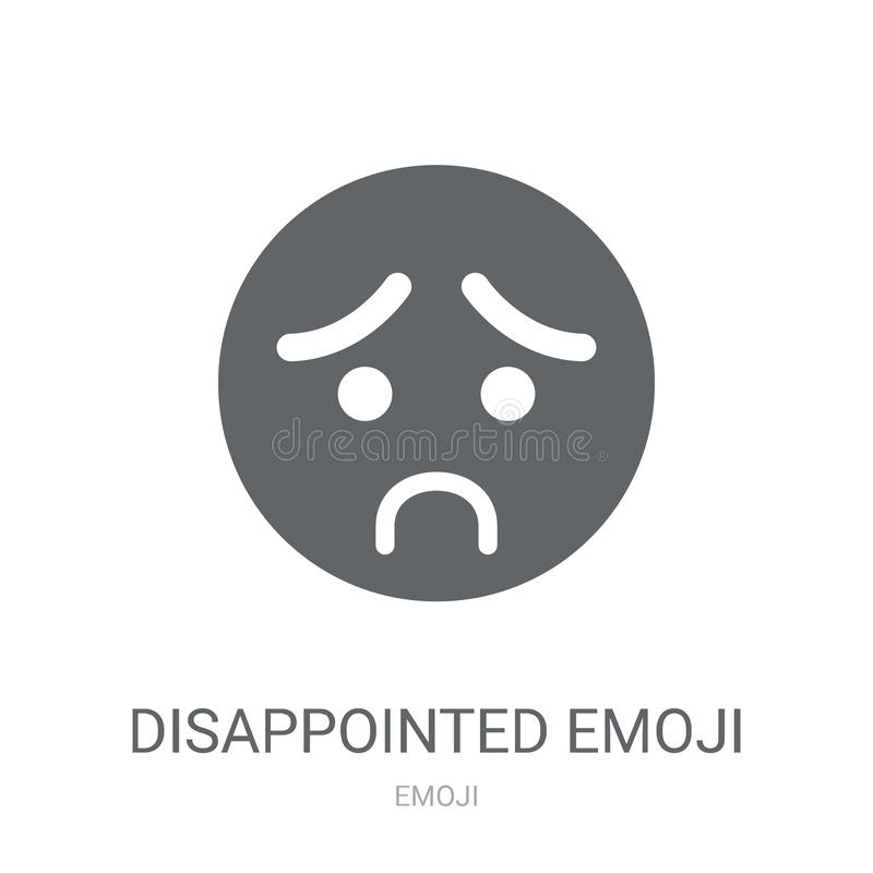Disappointed emoji icon. Trendy Disappointed emoji logo concept stock illustration