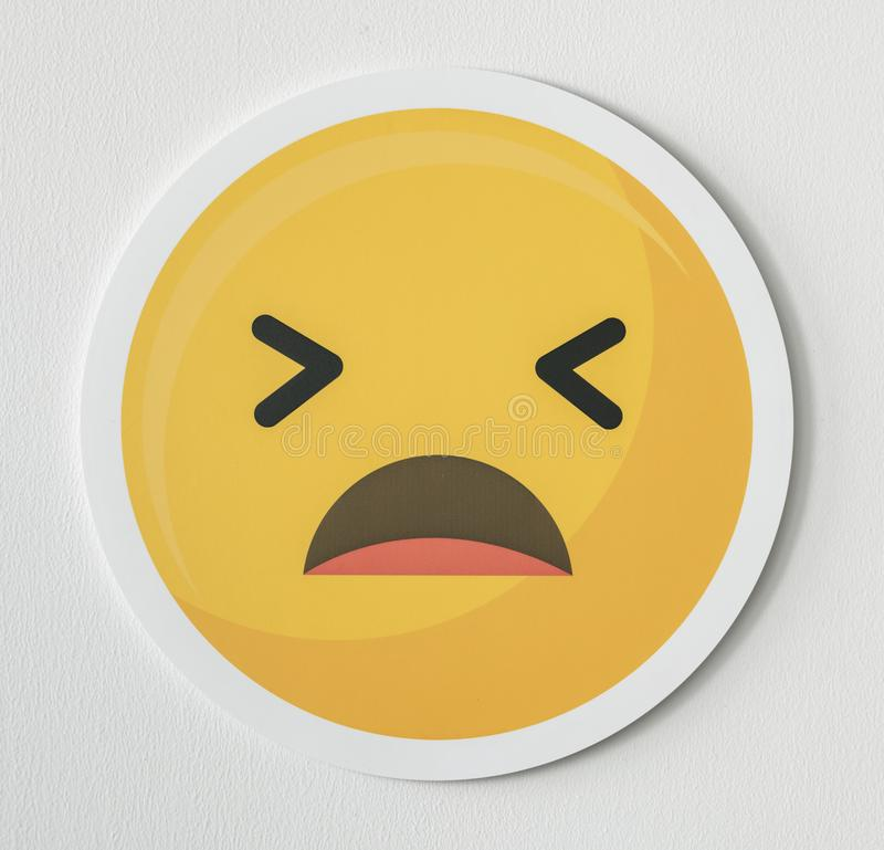 Disappointed emoticon emoji face icon stock image