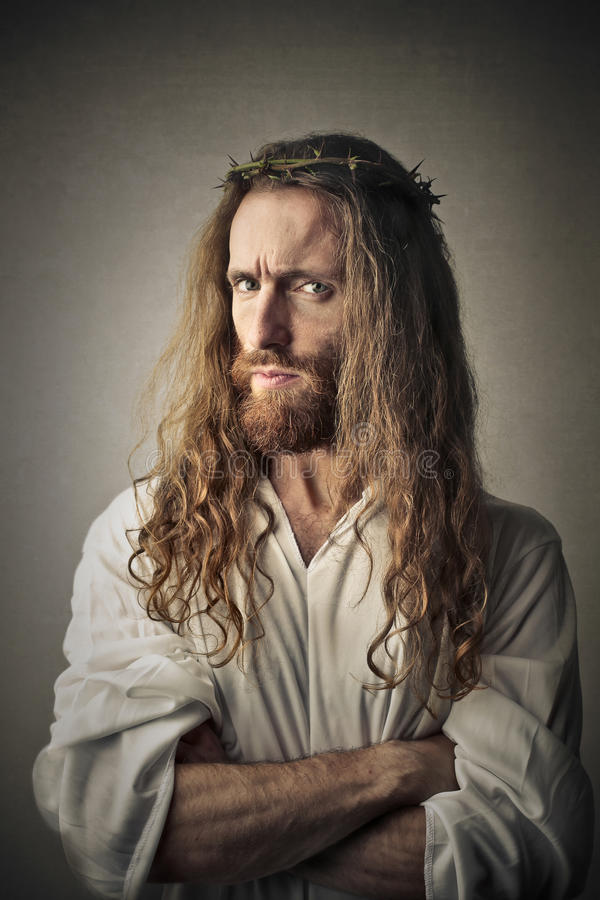 Disappointed Jesus royalty free stock photography