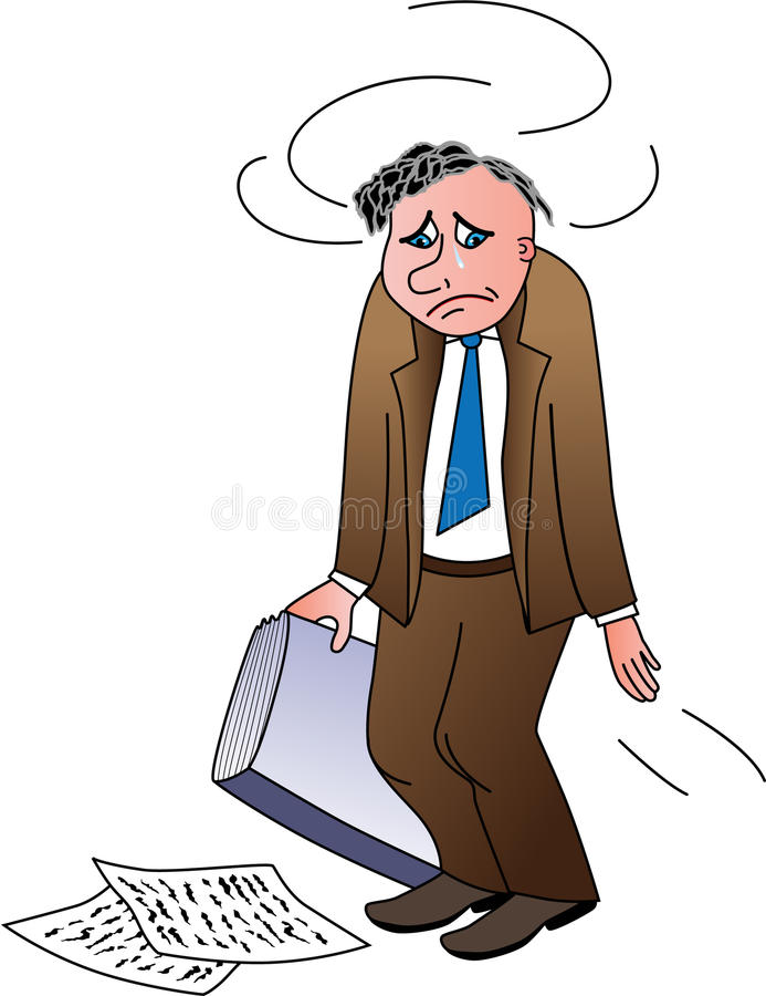 Download Disappointed Man Holding Papers Stock Vector - Image: 16401945
