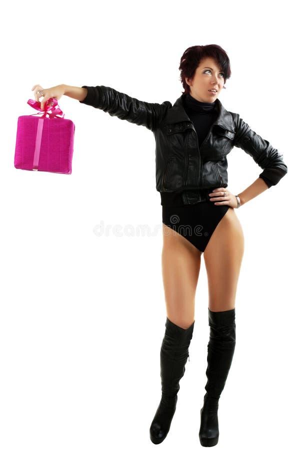 Disappointementvrouw van de gift royalty-vrije stock foto