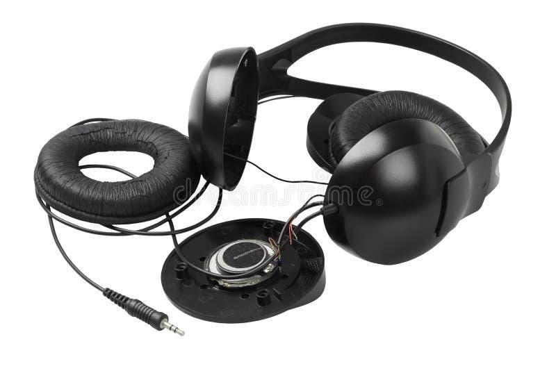 Disassembled Headphone. On White Background royalty free stock photography
