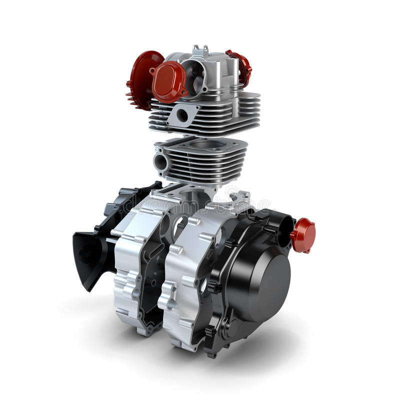 Free Disassembled Motorcycle Engine Royalty Free Stock Photography - 27446697